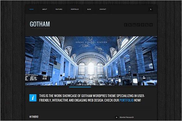 Gotham is a Responsive Business WordPress Theme