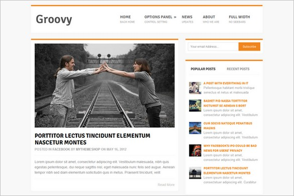 Groovy is a free WordPress theme from MyThemeShop