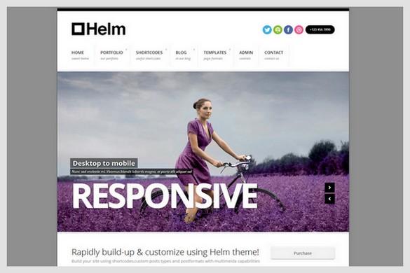 Helm is a Portfolio WordPress Theme
