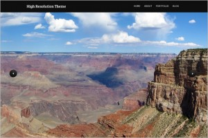 High Resolution is a free Photography WordPress theme by Vandelay Design