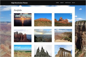 High Resolution is a free Photography and Portfolio WordPress theme