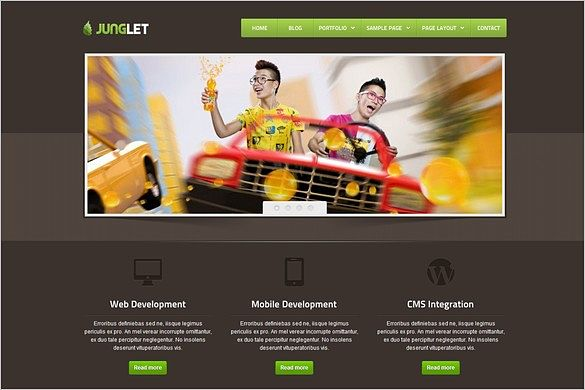 Junglet is a Corporate and Business WordPress Theme