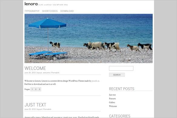Lenora is a free WordPress Theme