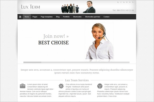 Lux Team is a Business WordPress Theme