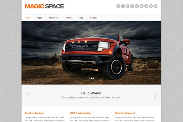 Magic Space is a Clean Business WordPress Theme