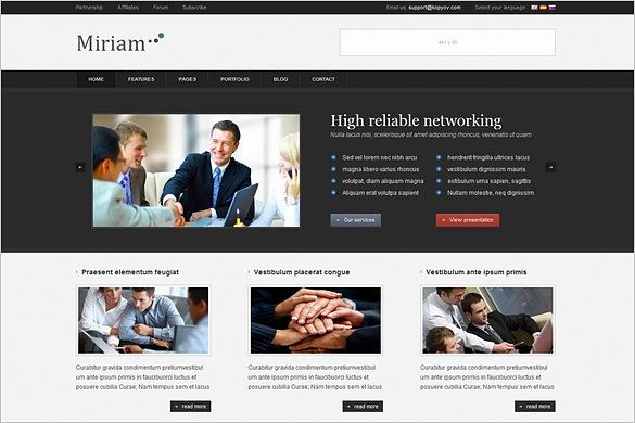 Miriam is a Business WordPress Theme