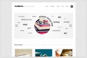 Modena is a Portfolio WordPress Theme