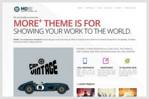 More+ is a Business and Portfolio WordPress Theme