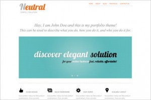 Neutral is a clean Portfolio WordPress Theme by DX Themes