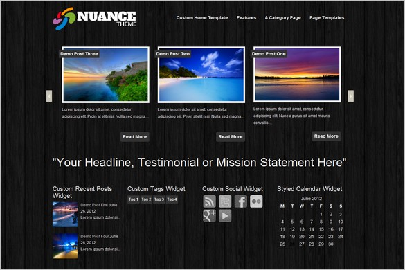 Nuance is a free WordPress Theme