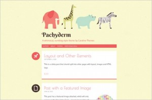 Pachyderm is a free WordPress Themes