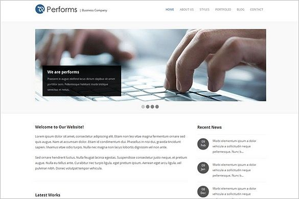 Performs is a Corporate Business WordPress Theme