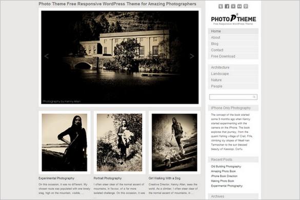 Photo Theme Responsive is a free WordPress Theme