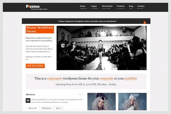 Pissmo is a Responsive Portfolio WordPress Theme