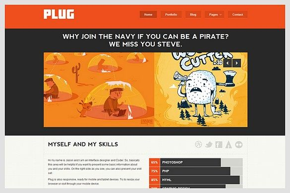 Plug is a Business Portfolio WordPress Theme