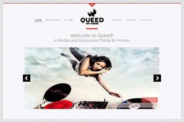 Queed is a Portfolio WordPress Theme