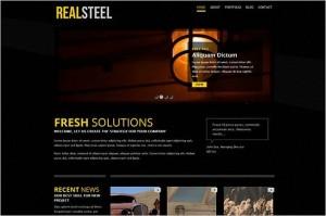 RealSteel is a Business and Portfolio WordPress Theme