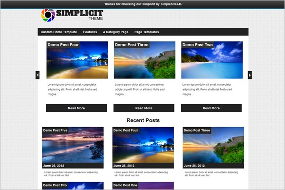 Simplicit is a free WordPress Theme