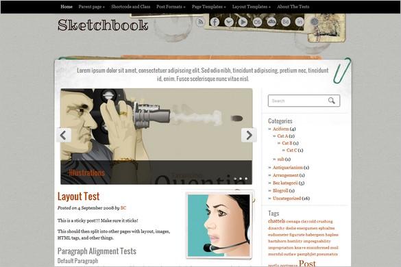 Sketchbook is a free WordPress Theme