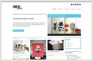 Sneakpeek is a Portfolio WordPress Theme