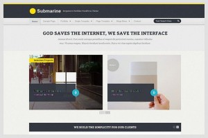 Submarine is a Portfolio WordPress Theme