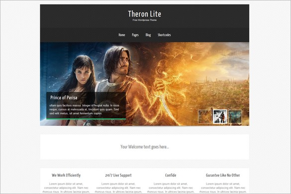 Theron Lite is a free WordPress Theme by Towfiq I