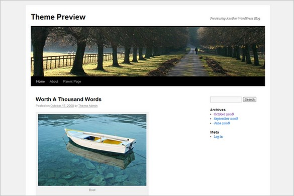 Twenty Ten is a free WordPress Theme