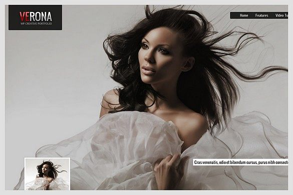 Verona is a Portfolio WordPress theme