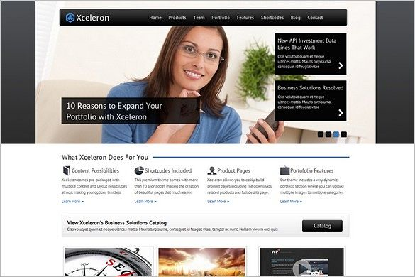 Xceleron is a WordPress Business Theme