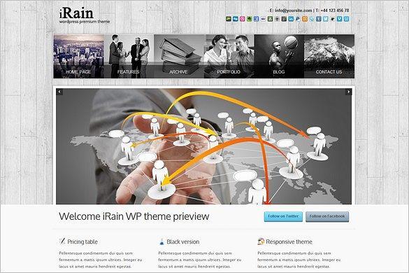 iRain is a Business WordPress Theme