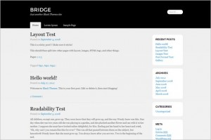 Bridge is a free WordPress Theme