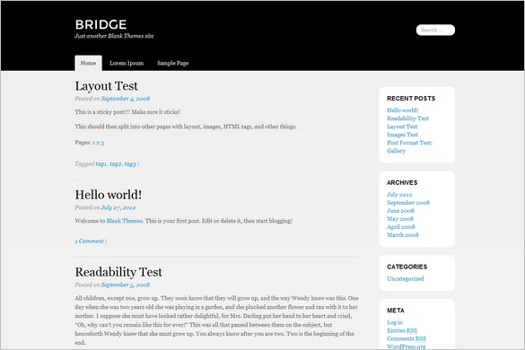 Bridge is a free WordPress Theme