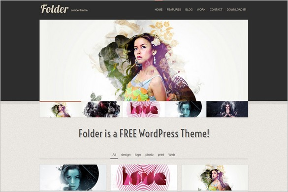 Folder is a free Portfolio WordPress Theme by LuisZuno