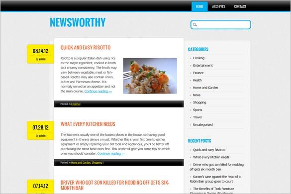 Newsworthy is a free WordPress Theme