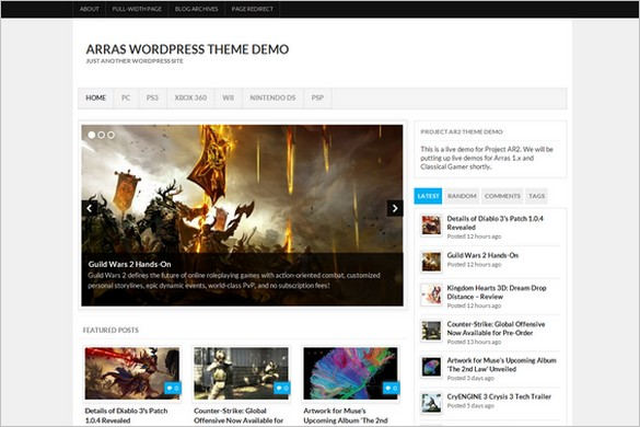 Project AR2 - Arras is a free WordPress Theme
