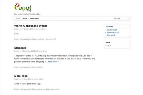 Pupul is a free WordPress Theme