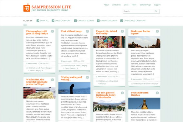 Sampression Lite is a free WordPress Theme by Sampression