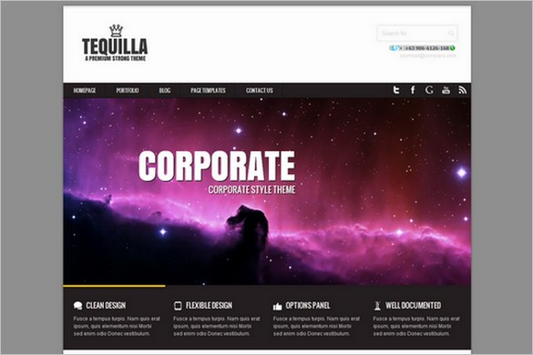 Tequilla is a free Portfolio WordPress Theme by Joolu