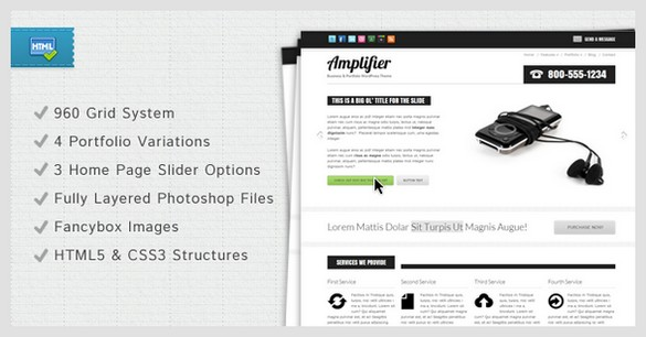 Amplifier is a HTML Business and Portfolio Template