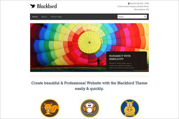 Blackbird is a free Responsive WordPress Theme by InkThemes