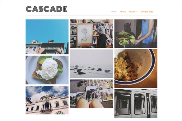 Cascade is a f ree Portfolio WordPress Theme by the Alpine Press