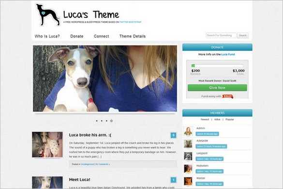 Luca's Theme is a free WordPress Theme by Untame