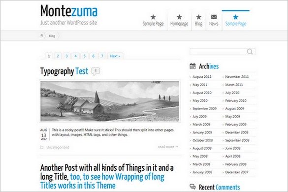 Montezuma is a free Responsive WordPress Theme by BytesForAll