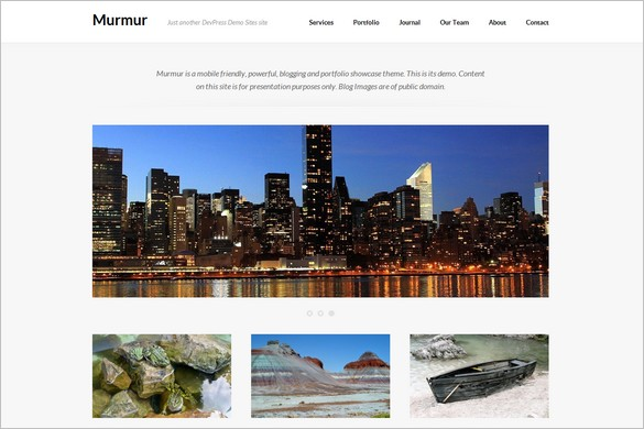 Murmur is a free Portfolio WordPress Theme by DevPress
