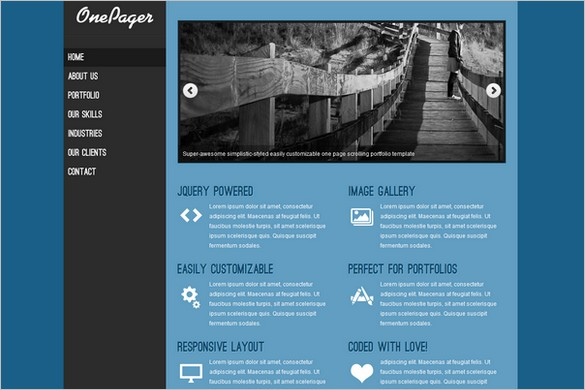 OnePager is a free WordPress Theme by Umair Ashraf