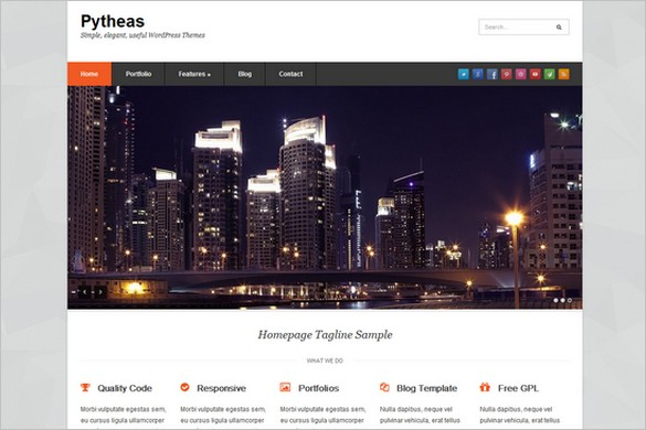 Pytheas is a free WordPress Theme by WPExplorer