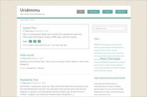 Uridimmu is a free WordPress Theme