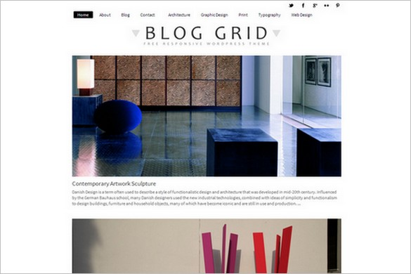 Blog Grid is a free WordPress Theme from Dessign.net