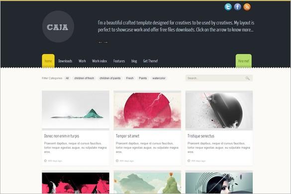 Caja is a free WordPress Theme by LuisZuno
