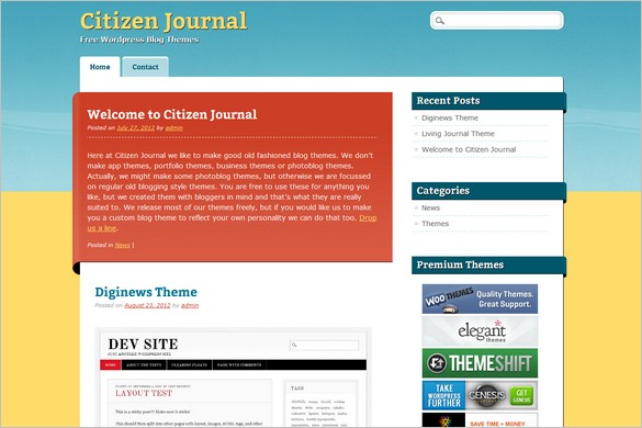 Citizen Journal is a free WordPress Theme